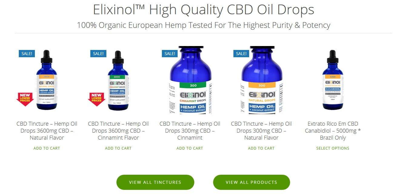 Elixinol CBD Tinctures